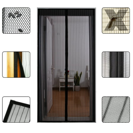Gimars Mesh Magnetic Screen Door with Full Frame Velcro, Magic Bug Off Screen Door Net Instant Auto Door Screen Curtain with 26 Strong Magnets, Anti Flies Mosquitos, Fits Doors Up to 34