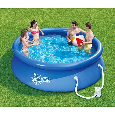 Summer escapes 10 39 x 30 quick set swimming pool for Easy care pool products