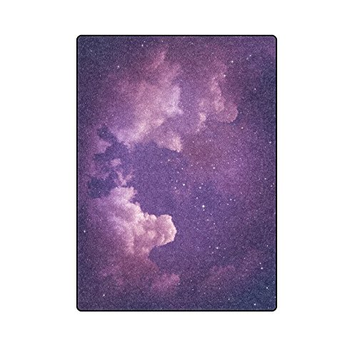 CADecor Stars in the Purple Night Sky Throw Blanket Bed Sofa Blanket 58x80 inches