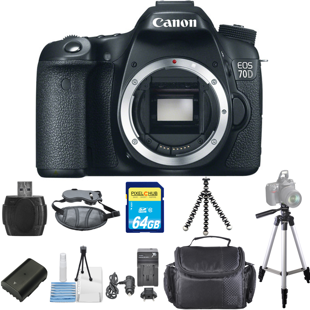 UNASSIGNED Canon EOS 70D DSLR Camera Body PRO BUNDLE BRAN...