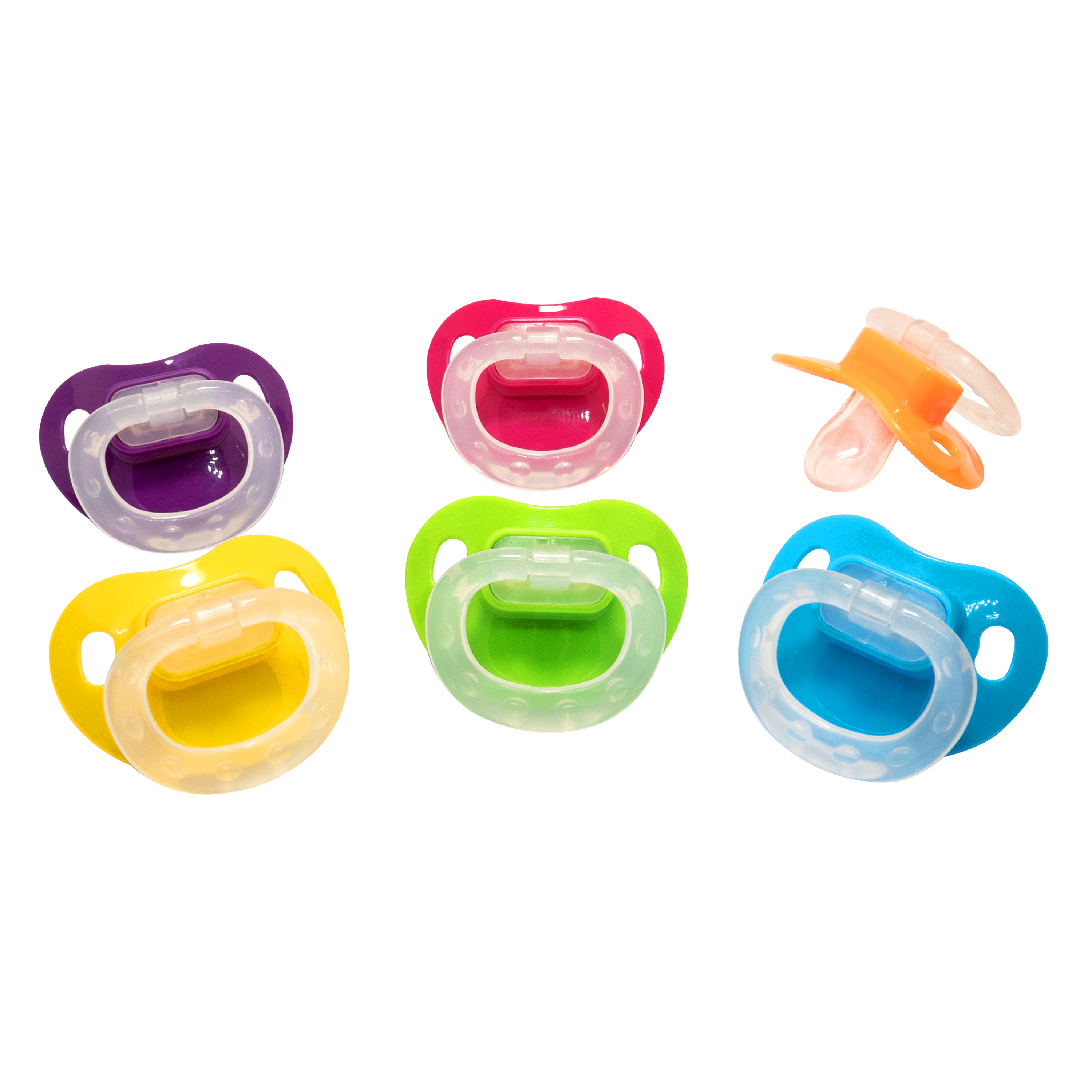 Parent's Choice Silicone Pacifiers, 0+ Months - 2 Counts (Colors May Vary)