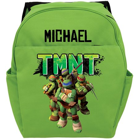 Personalized Teenage Mutant Ninja Turtles Strike a Pose Green Toddler Backpack - Ninja Turtle Bookbag