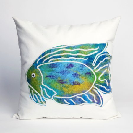Liora Manne Batik Fish Indoor / Outdoor Throw Pillow ()