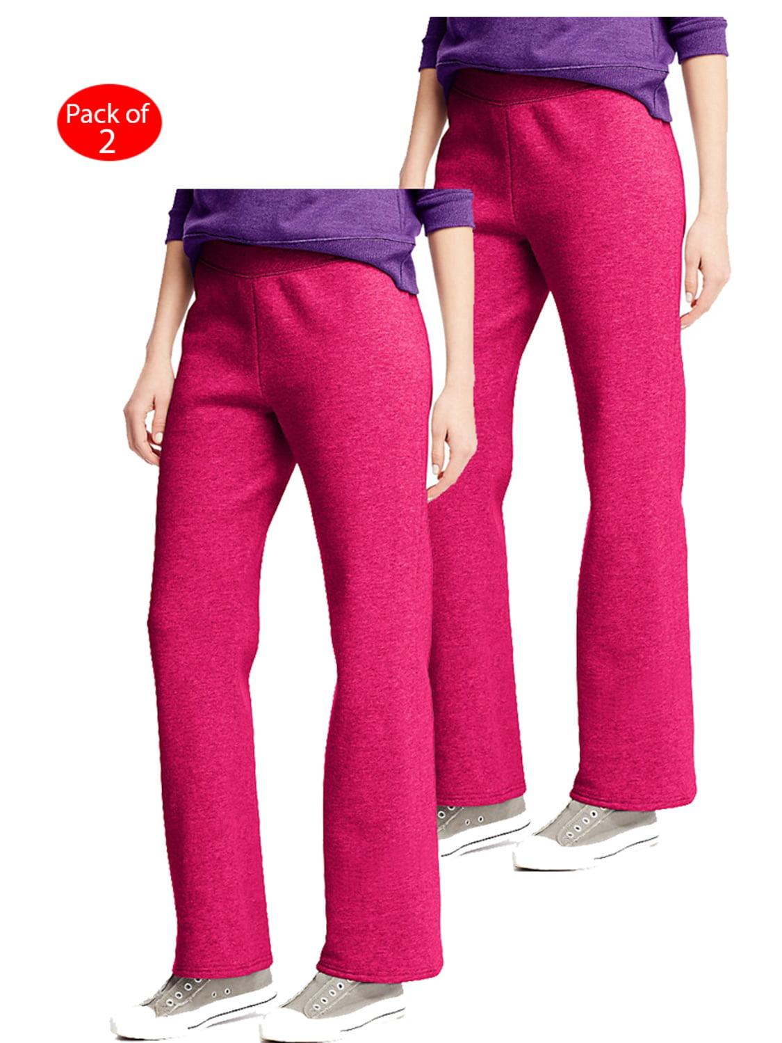Hanes Women/'s Fleece Pant Open Leg Sweatpants Regular S 2XL