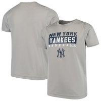 Youth Gray New York Yankees Basic T-Shirt