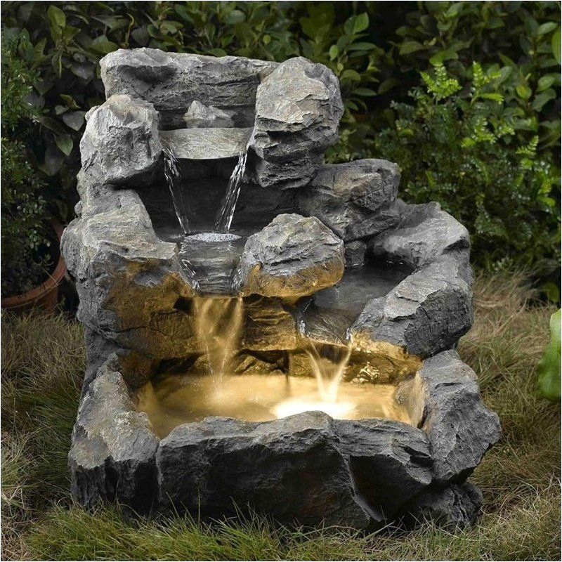Click here to buy Bowery Hill Cascading Outdoor Indoor Fountain with Illumination by Bowery Hill.