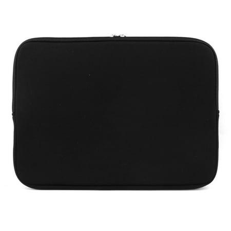Unique Bargains Neoprene Dual Zipper Carry Pouch Laptop Sleeve Black for MacBook Pro Air 12 Inch Neoprene Double Zipper Case