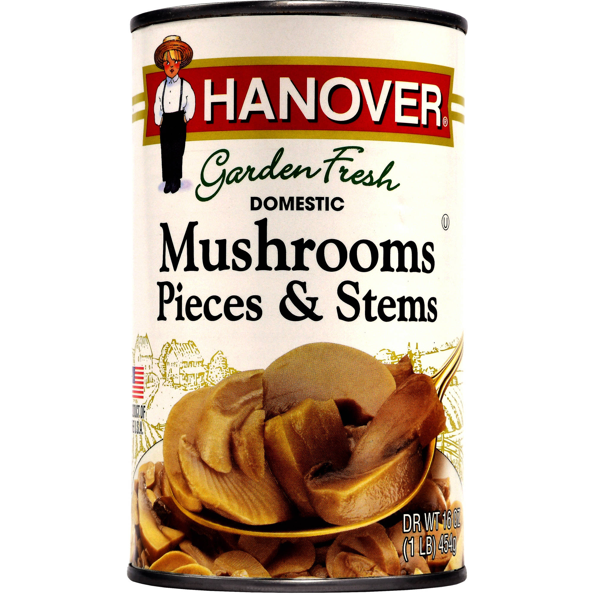 Hanover Domestic Mushrooms Pieces & Stems, 16 oz by Hanover Foods Corp.