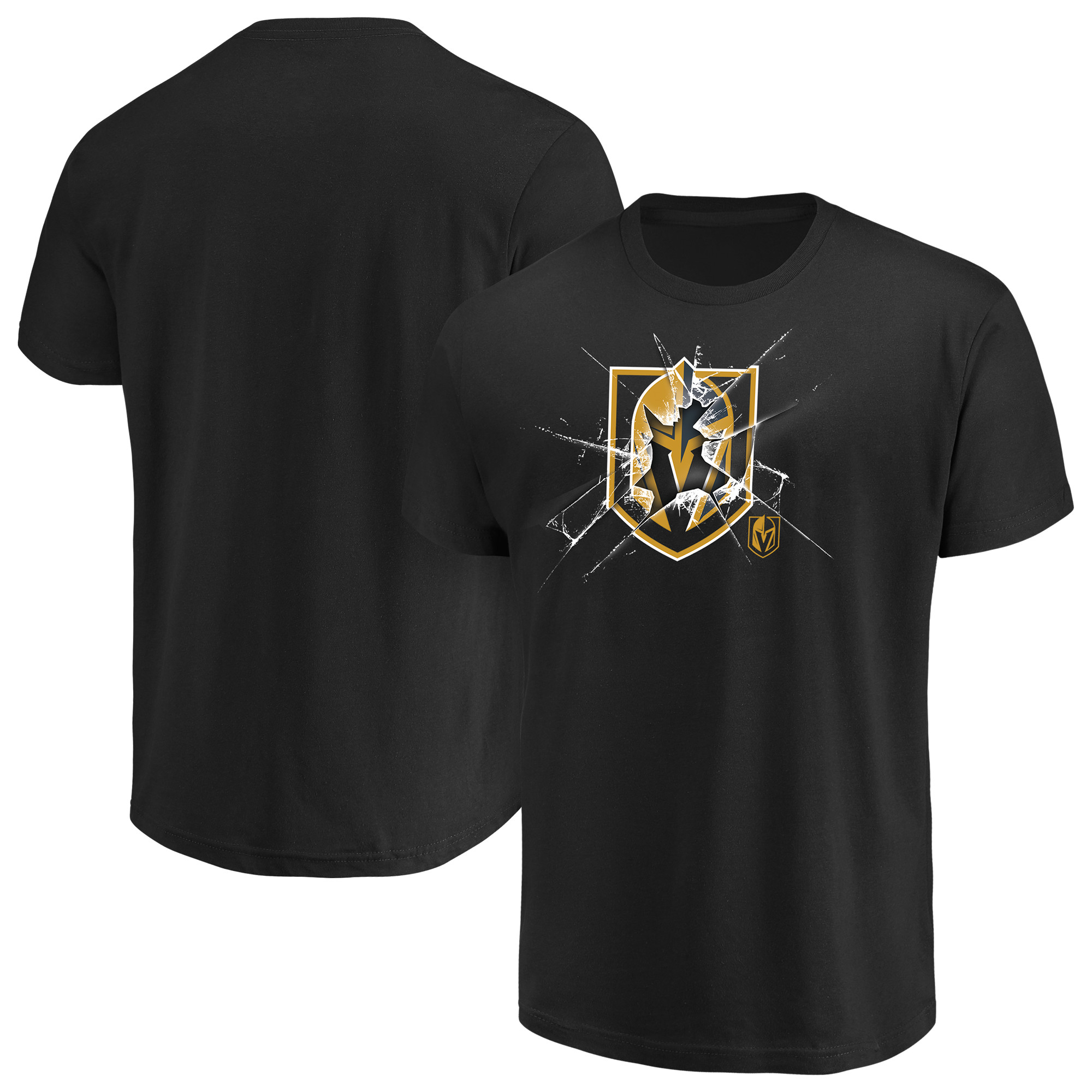 Men's Majestic Black Vegas Golden Knights Poke Check T-Shirt