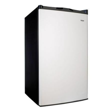Haier 4.5 Cu Ft Single Door Mini Fridge HC46SF10SV, Virtual Steel