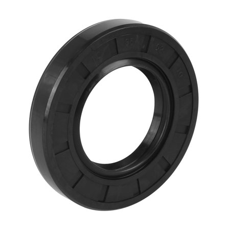 35mm x 62mm x 10mm Black Nitrile Butadiene Rubber Cover Double Lip TC Oil Shaft Seal for Car Auto Black Stained Shaft