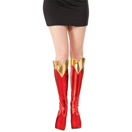 Adult Halloween Costume Accessory Supergirl Boot Tops