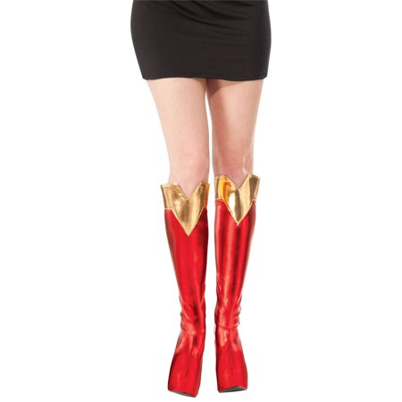 Adult Halloween Costume Accessory Supergirl Boot Tops](Girls Super Girl Costume)