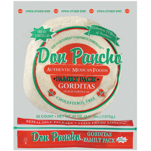 Don Pancho: Gorditas Family Pack 30 Ct Flour Tortillas, 45 oz