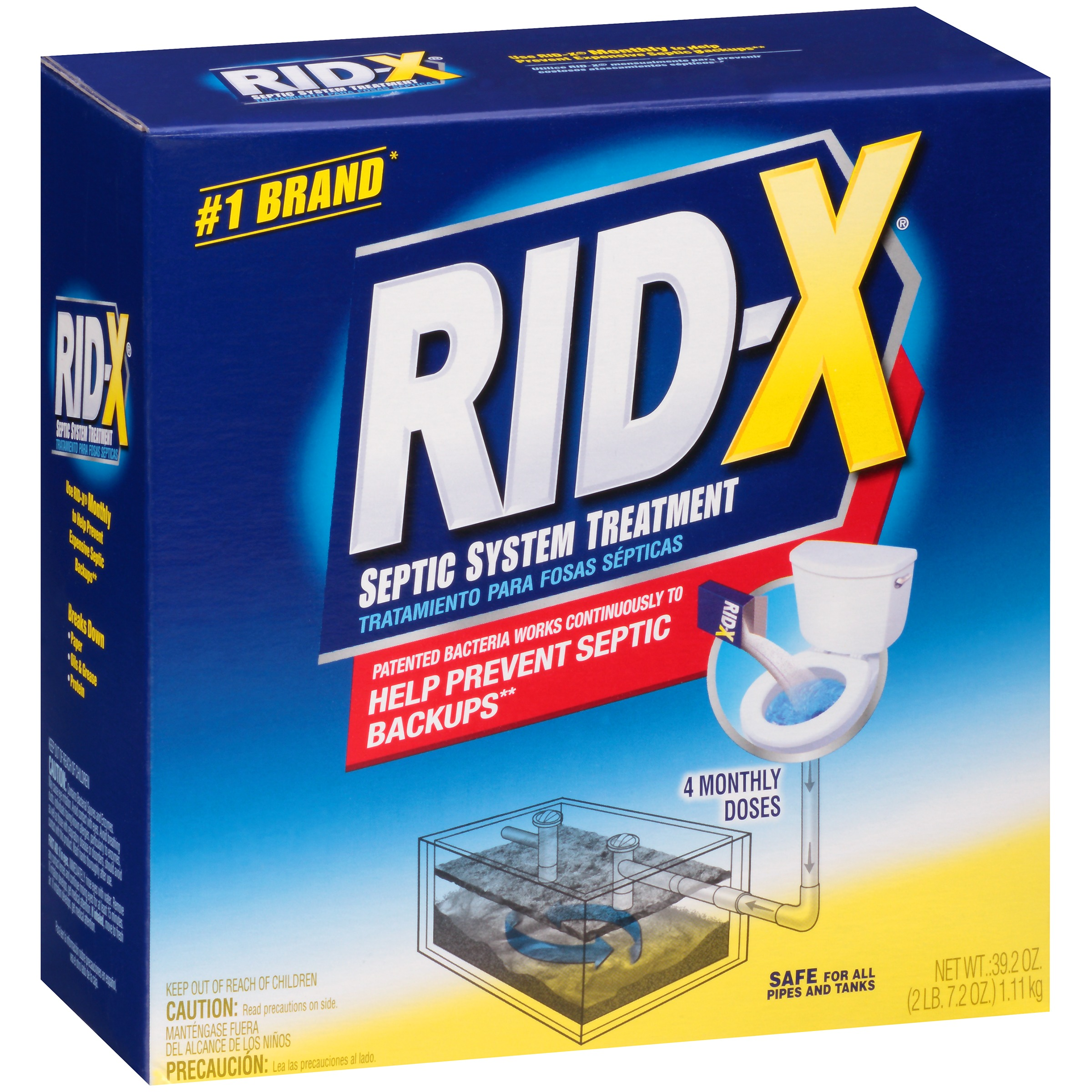 Rid-X® 4 Monthly Doses Septic System Treatment 39.2 oz. Box