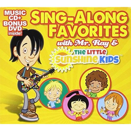 Sing-A-Long Favorites with Mr. Ray & The Little Sunshine Kids (Music CD + Bonus DVD) - Halloween Music For Young Kids