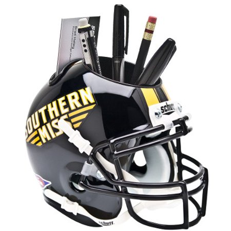 Southern Miss Golden Eagles (Black) NCAA Football Schutt Mini Helmet Desk Caddy