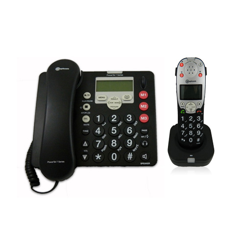 Amplicom PT-760-2 Amplified DECT Corded Phone with Answer...