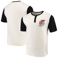Portland Trail Blazers Fanatics Branded True Classics Henley T-Shirt - Cream/Black