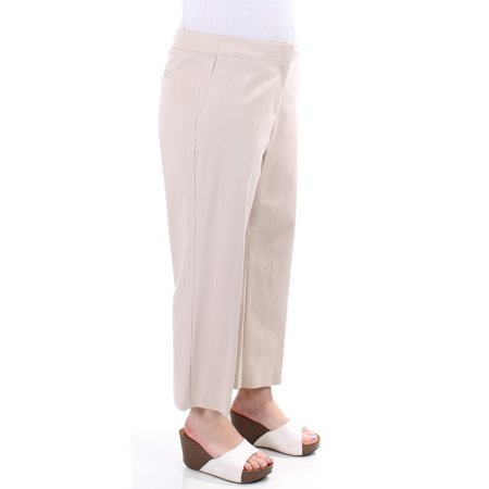 Charter Club Khaki (CHARTER CLUB Womens Beige Cropped Pants  Size: 12)