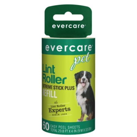 Evercare Pet Extreme Stick Plus Lint Roller Refill, 60 Sheets