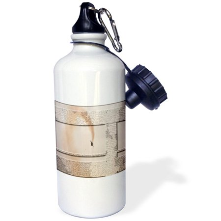 3dRose Trick Airplane in the Sky with a Rust Colored Trail of Smoke done in Layers, Posturized and Beveled, Sports Water Bottle, 21oz ()
