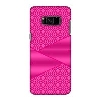 Samsung Galaxy S8 Case - Carbon Fibre Redux Hot Pink 6, Hard Plastic Back Cover, Slim Profile Cute Printed Designer Snap on Case with Screen Cleaning Kit