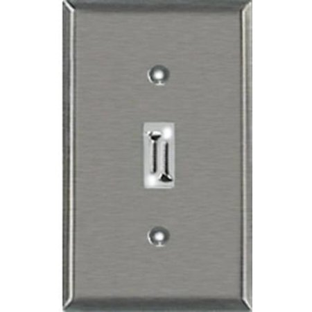 brushed nickel stamped switch wall plate br nickel 1 tog wallplat. Black Bedroom Furniture Sets. Home Design Ideas