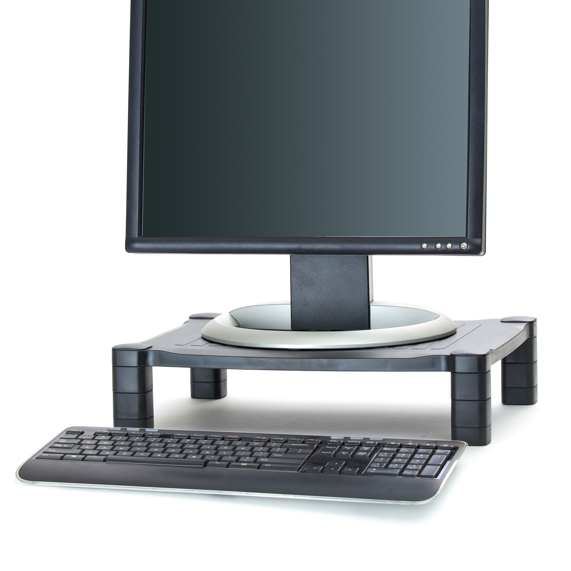 mind reader u0027guide u0027 adjustable plastic monitor laptop stand black