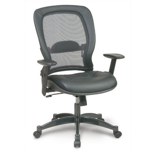 High Point Furniture High-Back Leather Conference Chair with Arms