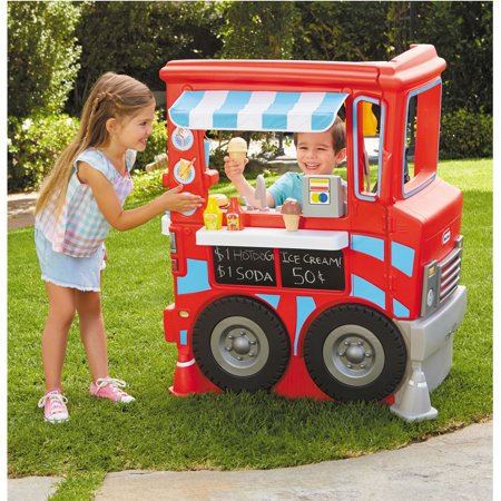 Little Tikes 2-in-1 Food Truck Play Kitchen with 20+ Accessories