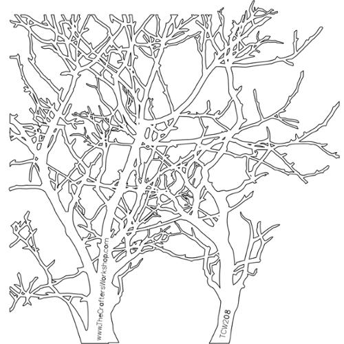 "Crafter's Workshop Template 12""X12""-Branches"