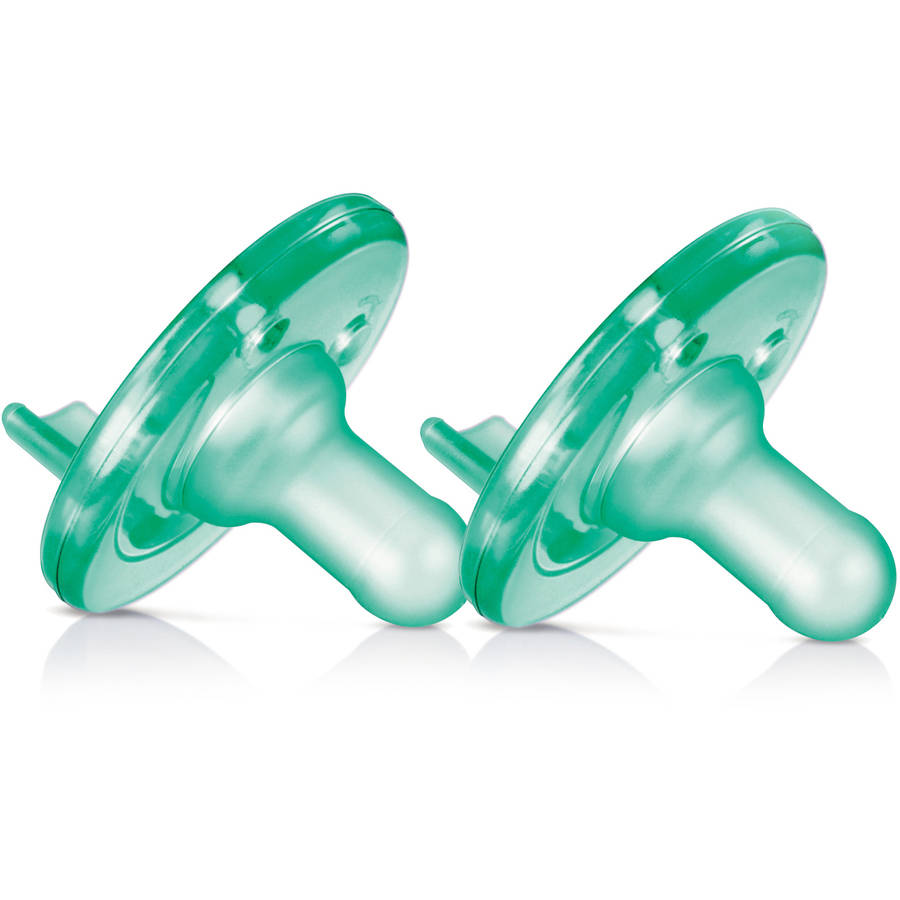 Philips Avent Soothie Pacifier, 3+ Months, Green, 2-Pack, SCF192/05