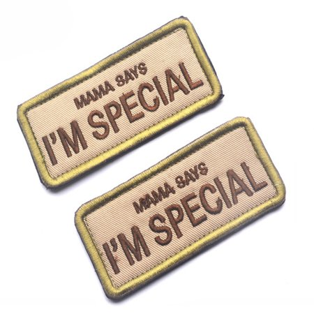 MAMA SAYS I AM SPECIAL Military Moral Patch 3D Patch Badge Cloth Armband Badges
