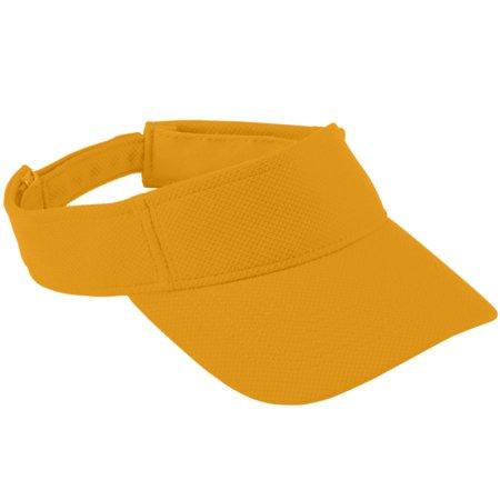 Gold Mesh Buckle - Augusta Sportswear Boy's Adjustable Wicking Mesh Visor, Gold, One Size
