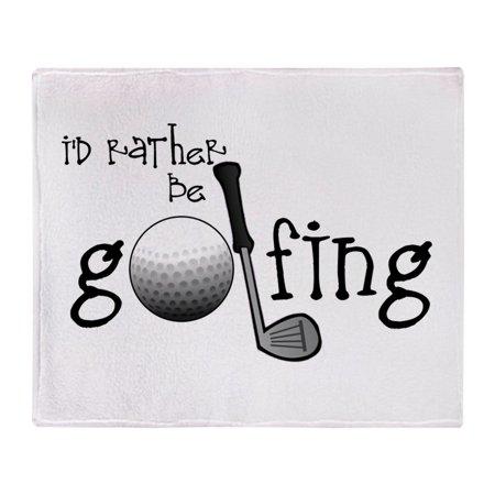 Id Rather Throw (CafePress - Id Rather Be Golfing - Soft Fleece Throw Blanket, 50