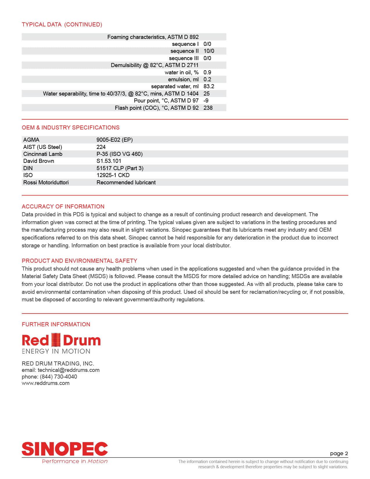 Heavy Duty EP Gear Oil, ISO VG 460 AGMA 7 - 55 Gallon Drum