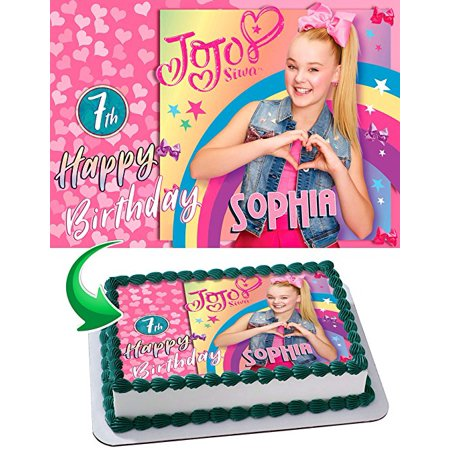 JoJo Siwa Edible Cake Topper 1 4 Sheet