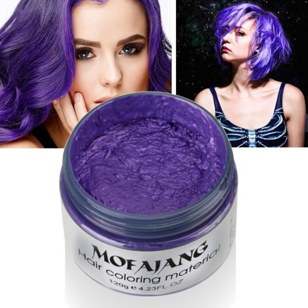 Temporary White Hair Color Spray (Funcee Unisex DIY Hair Color Wax Mud Dye Cream Temporary Modeling 7 Colors for Choose 4.23)