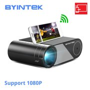 BYINTEK SKY K9 Multi-Screen Portable Projector 1080P Supported 250 ANSI Lumens Clear LED Home Theater Projector WiFi Wireless Display Compatible Smartphone PC Laptop PS4 for Home Office Entertainment