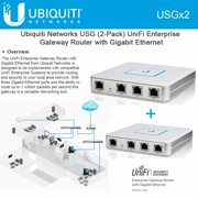 Ubiquiti USG 2-UNITS UniFi Security Gateway Enterprise Site-to-Site VPN Tunnel