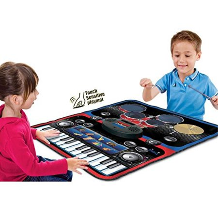 2 in 1 Music Jam Drum and Musical Piano Play Mat
