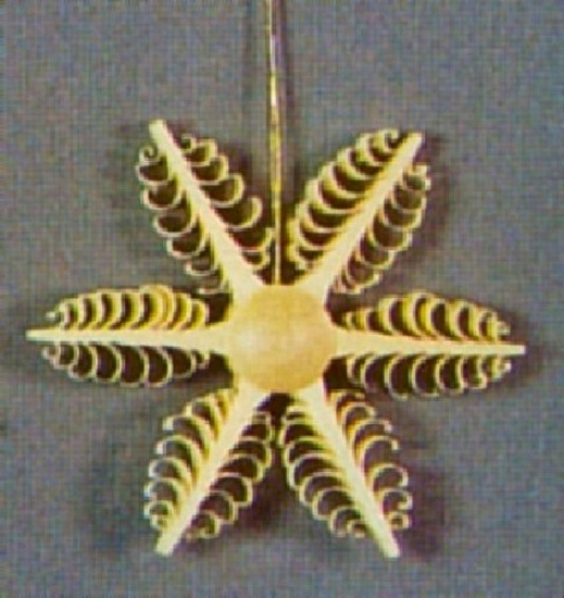 Wooden Star German Christmas Tree Ornament Decoration Handcrafted in Germany New