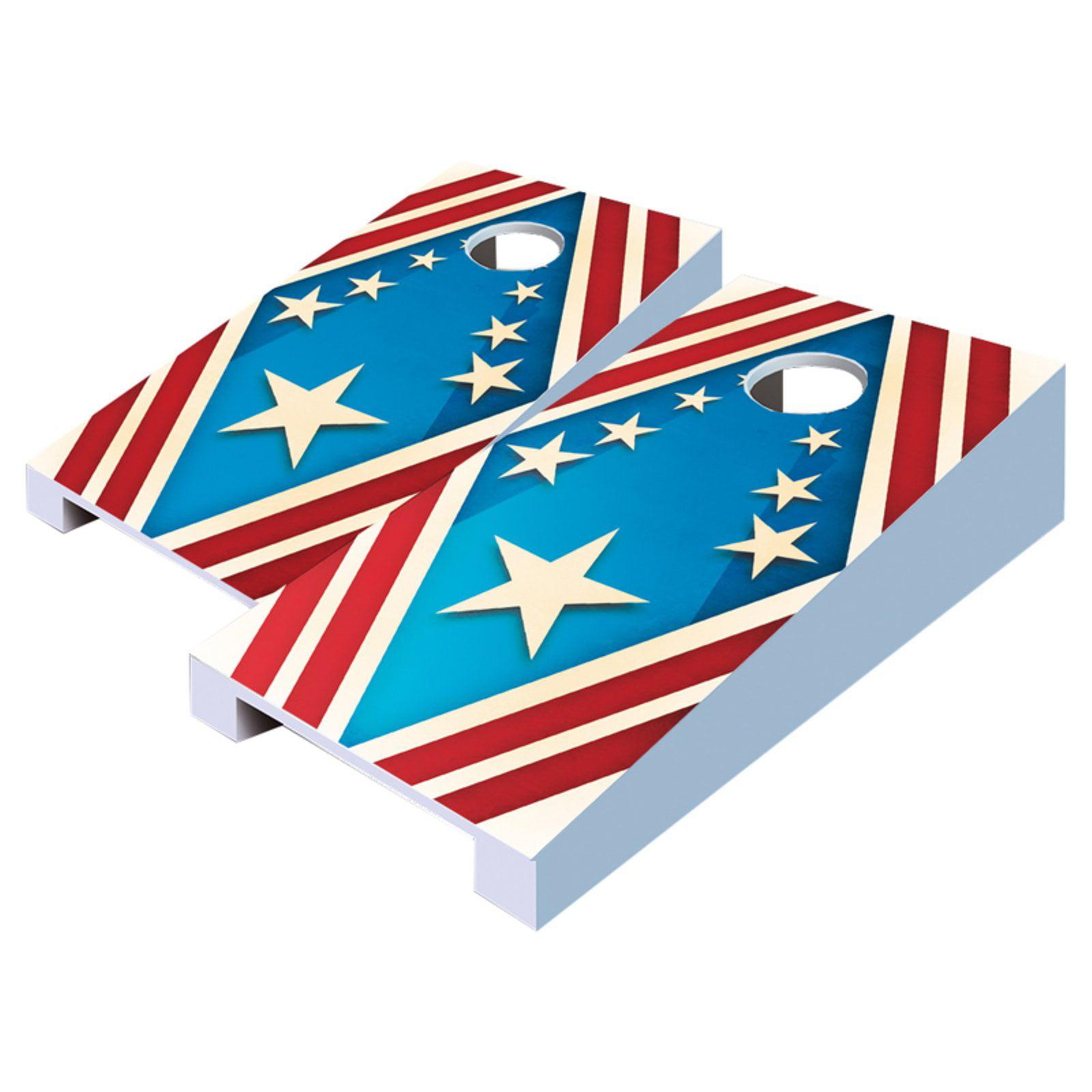 Patriotic Tabletop Cornhole Set by AJJ Cornhole