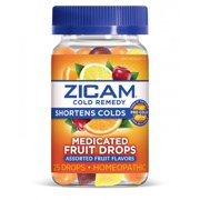 Zicam Cold Remedy Assorted Fruit Medicated Fruit Drops, 25 Count