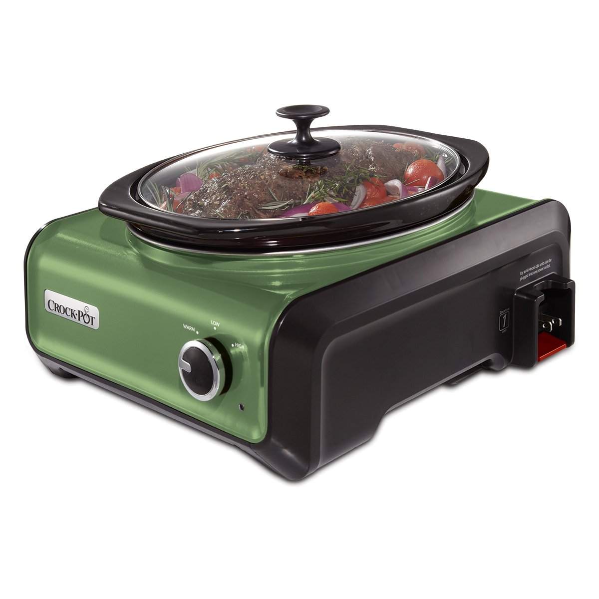 Crock-Pot 3.5-Quart Hook Up Connectable Entertaining System, Metallic Green (SCCPMD3-GR)