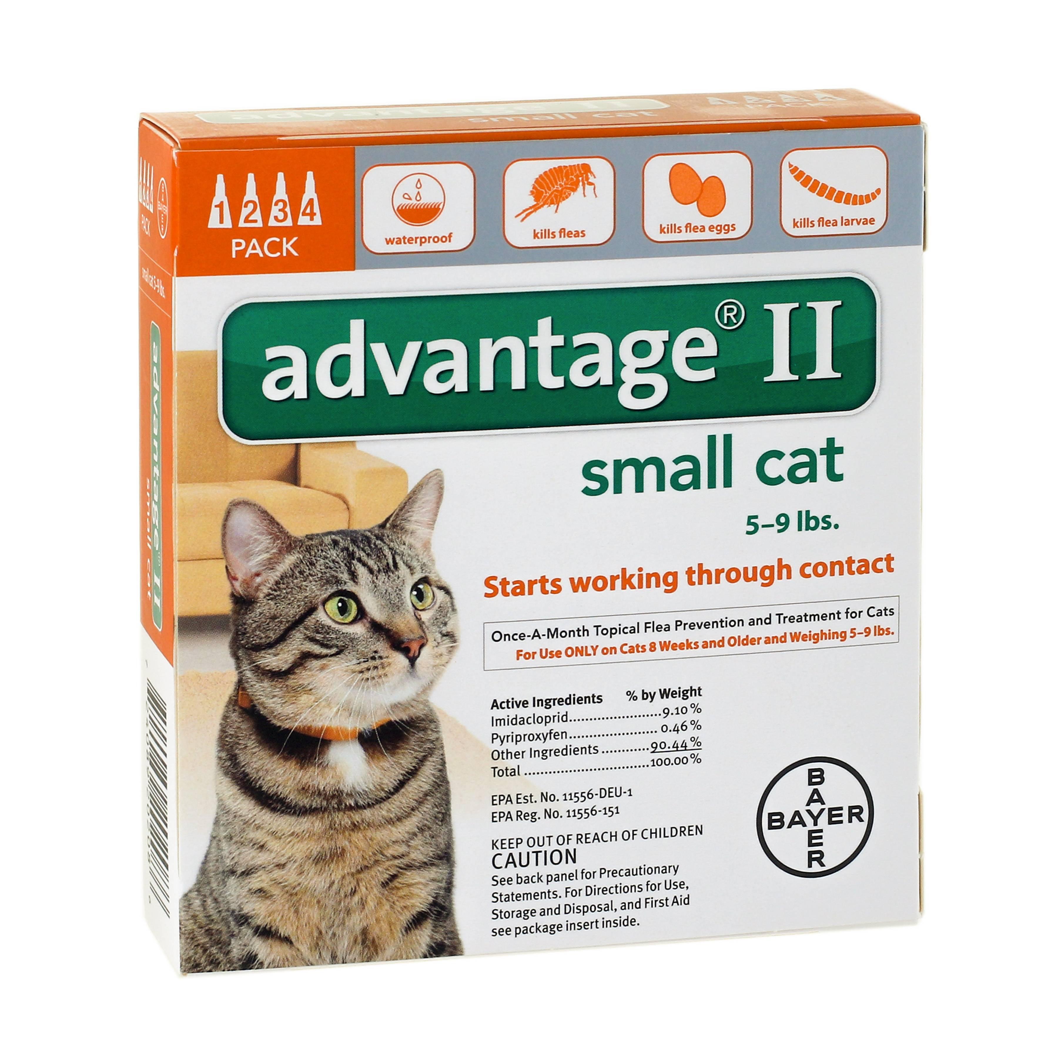 Advantage II Flea & Tick Treatment for Small Cats, 4 Doses by Advantage