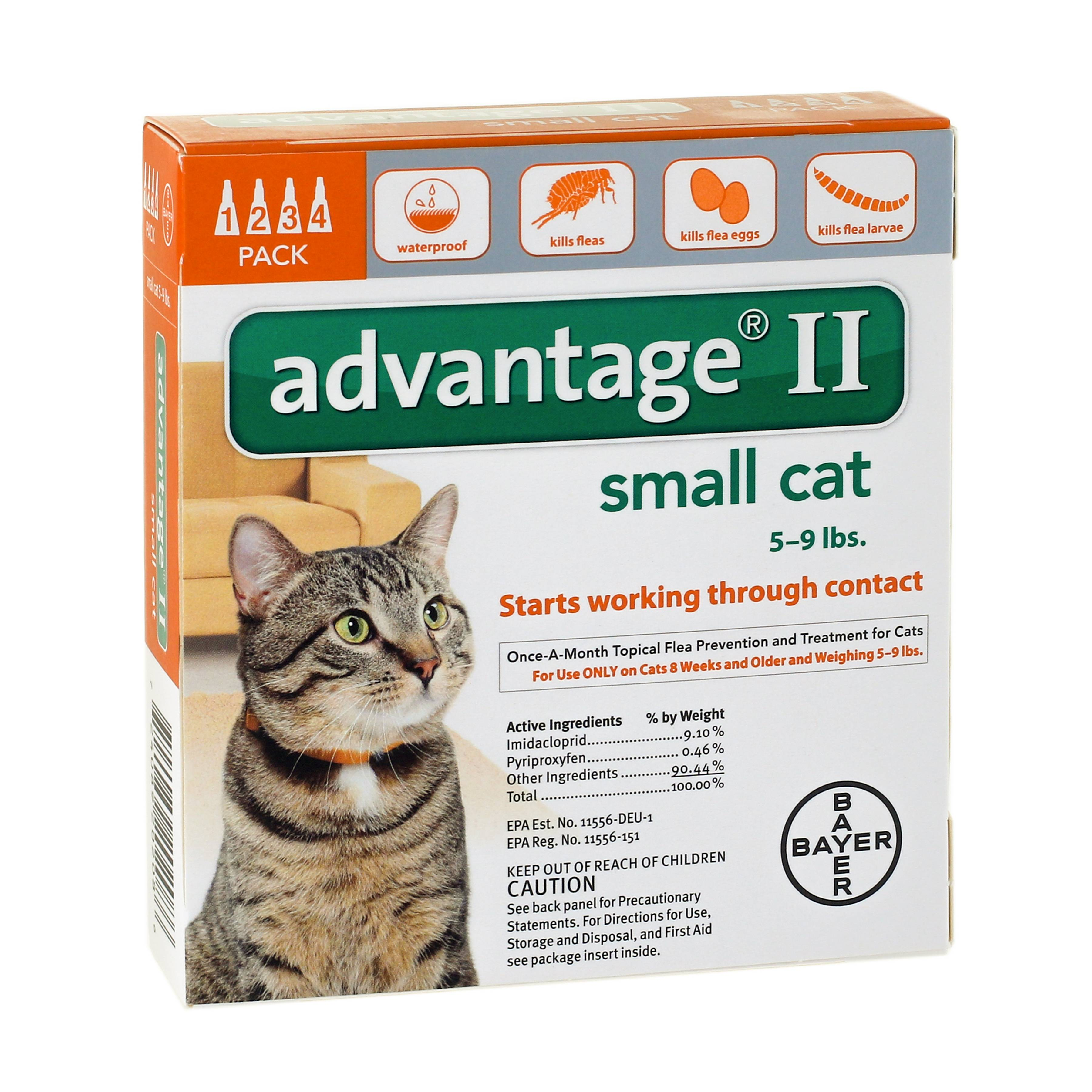 Image of Advantage II Flea Treatment for Small Cats, 4 Doses