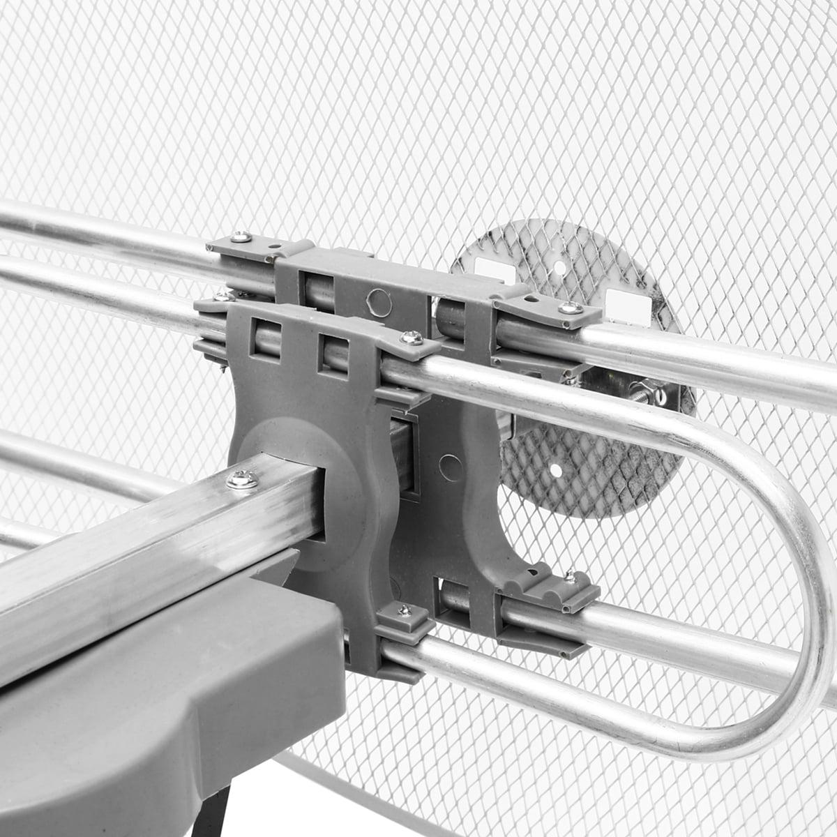 Long Range 1080P Outdoor Amplified Antenna TV 360 Rotor 38dB UHF//VHF//FM 180Miles