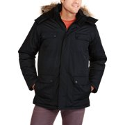 Canada Weather Gear Men's Faux Down Goose Parka Jacket Coat, Size